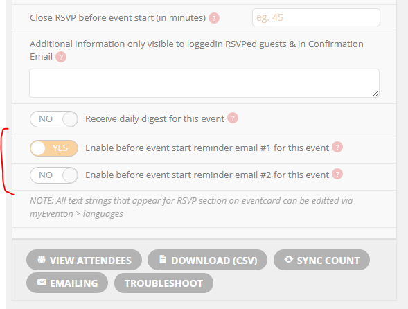 How To Setup Reminders For Rsvp Documentation
